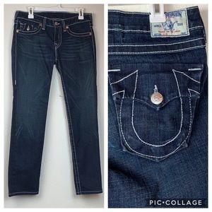True Religion Julie flap pocket straight leg jeans